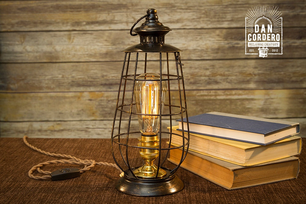 Merveilleux Edison Lantern Table Lamp Desk Lamp Night Light Bed | Etsy