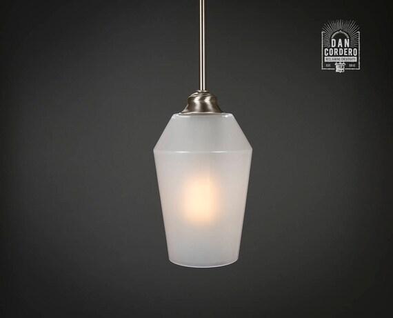 Pendant Light Fixture Edison Bulb Brushed Nickel Pendant Kitchen Light Pendant Light Edison Light Bulb Milk Flute Shade