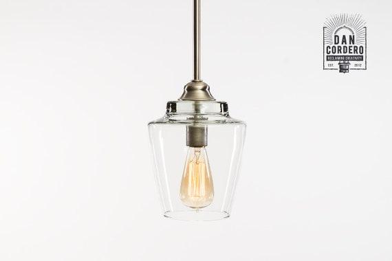 Pendant Light Fixture Edison Bulb Brushed Nickel Pendant Kitchen Light Pendant Light Edison Light Bulb Small Hurricane Shade