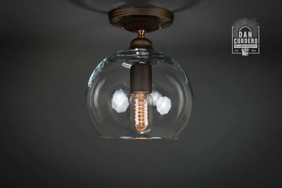 Flush Ceiling Mount Semi-Flush Edison Bulb Light Fixture