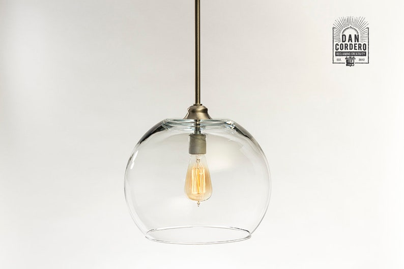 best loved 40e90 cceb7 Oversized Pendant Light Fixture | Edison Bulb | Pendant | Kitchen Light |  Pendant Light | Edison Light Bulb | XL Globe Shade