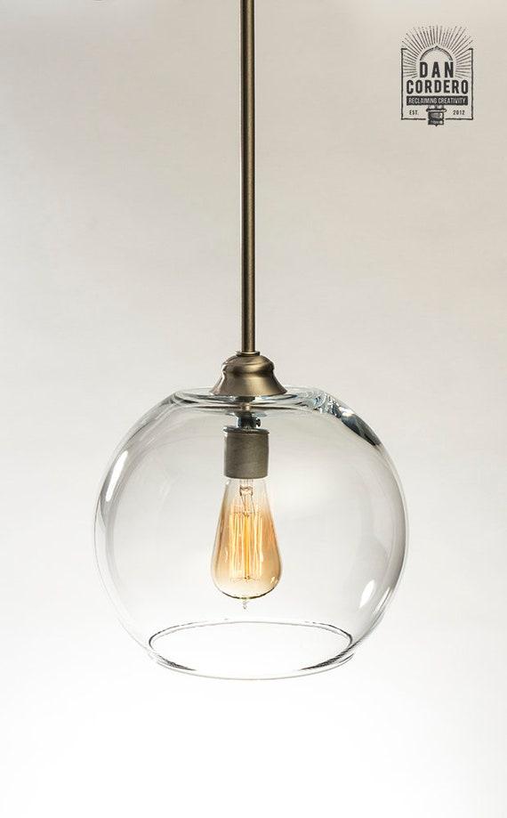 Glass Pendant Light Fixture Edison Bulb Pendant Kitchen Light Pendant Light Edison Light Bulb Large Globe