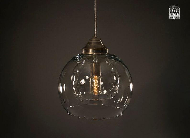 Edison Pendant Light Fixture Edison Bulb Aged Brass Etsy
