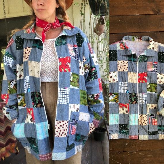 Vintage handmade Patchwork jacket