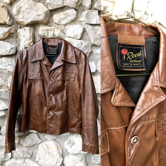 60s/70s Reed Sportswear Leather Jacket