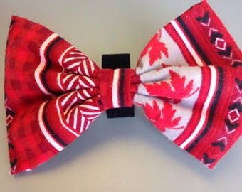 ec4f91a79907 Dog bowtie- handmade bow tie- maple leaf bow tie- pink polka dot bow tie-  red bow tie- adjustable bow tie- dog bowtie- doggie bowtie