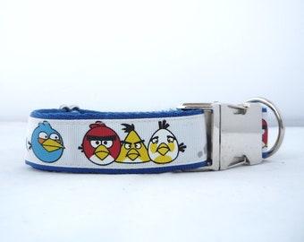 """1"""" very mad birds dog collar"""