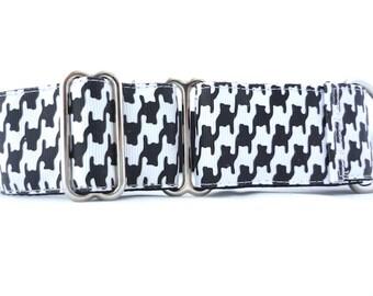 "1.5"" wide Houndstooth martingale dog collar- Houndstooth dog collar"