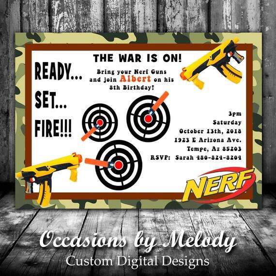 picture about Nerf Gun Party Invitations Printable called Nerf Dart Gun Celebration Invites - Nerf War Dart Gun Social gathering - Dart Gun Birthday Invites - Printable