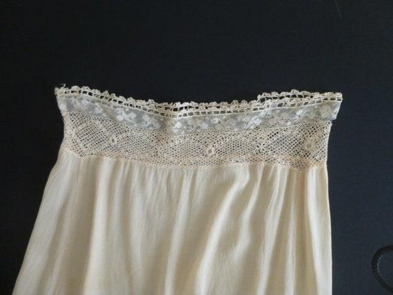 vtg 20's 30s silk chemise teddy slip
