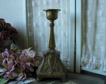 Antique Bronze Candlestick, Art Nouveau Candlestick, Wedding Candles,  Wedding Decorations, Gifts For Brides, Antique Home Decor