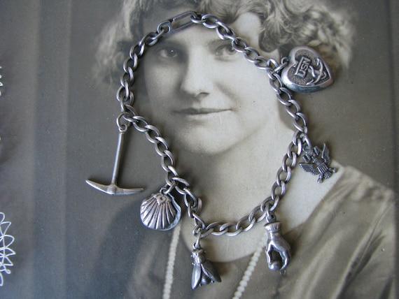 Vintage Charm Bracelet, Vintage Sweetheart Bracele