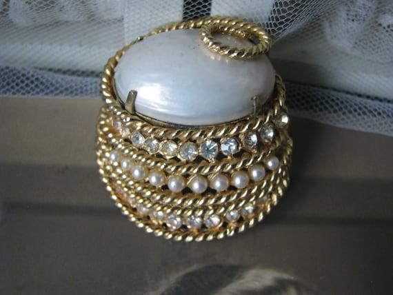 Vintage Corocraft Brooch, Vintage Pearl Brooch, V… - image 4