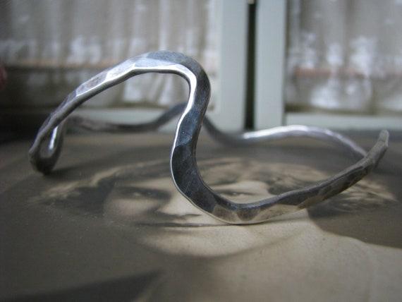 Sterling Silver Upper Arm Bracelet, Handmade Upper