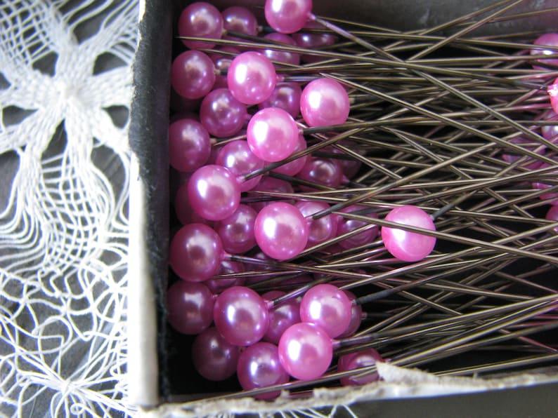 Pink Pearl Pins Art /& Crafts Supplies Vintage Glass Corsage Pins 1940/'s Soft Glass Corsage Pins Pink Pearl Corsage Pins