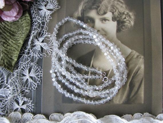 1920's Flapper Necklace, Antique Flapper beads, Fl