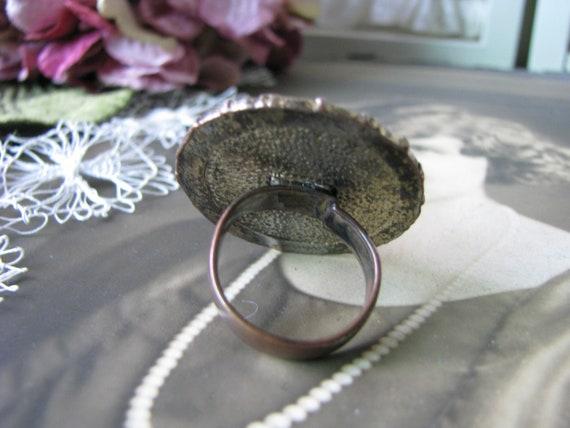 Vintage Copper Ring, Vintage Rhinestone Ring, Vin… - image 5