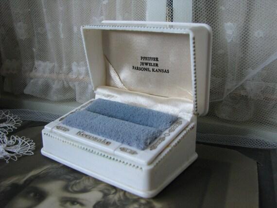 Vintage Keepsake Ring Box, Vintage Celluloid Ring
