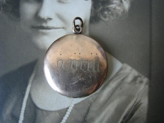 Antique Monogrammed Locket, Antique Rose Gold Lock