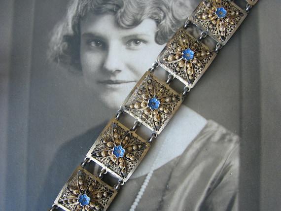Vintage Topazio Bracelet, Spun Silver Bracelet, To