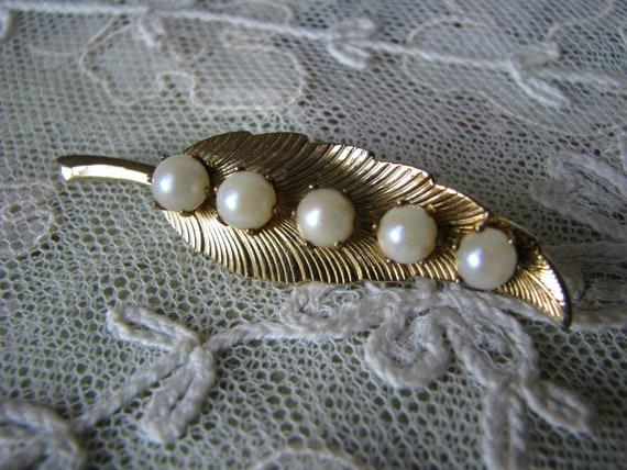 Vintage Pearl Brooch, Cultured Pearl Brooch, Vint… - image 6