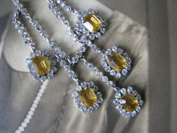 Art Deco Paste Necklace, Art Deco Festoon Necklace