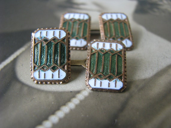 Gifts For Him, Antique Enamel Cuff Links, Arts & C
