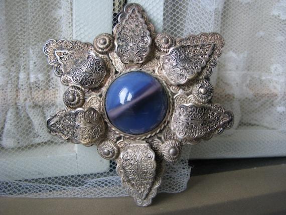Art Deco Art Glass Brooch, 1930's Art Glass Brooch