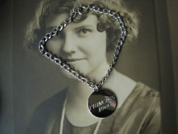 """Vintage Sterling Silver Charm Bracelet, Vintage """"… - image 1"""
