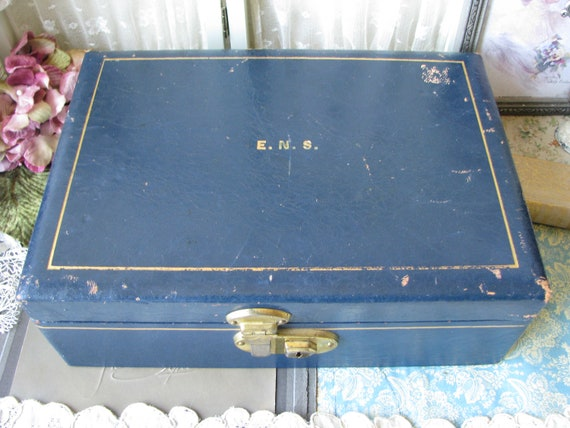 Men's Leather Jewelry Box, 1930's Leather Jewelry