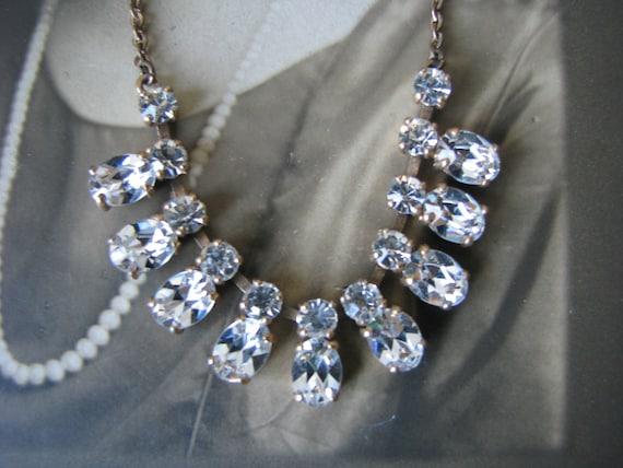 Art Deco Paste Necklace, Art Deco Choker Necklace,