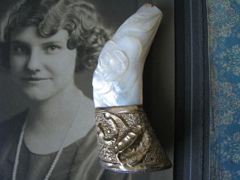 Gold Filled Umbrella Handle Carved Umbrella Handle Antique Umbrella Handle Mother Of Pearl Umbrella Handle Edwardian Umbrella Handle