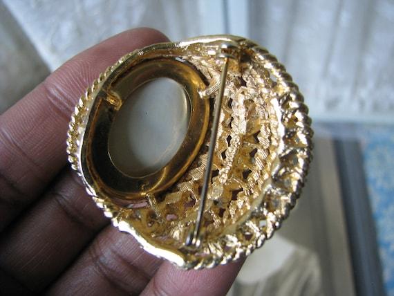 Vintage Corocraft Brooch, Vintage Pearl Brooch, V… - image 8