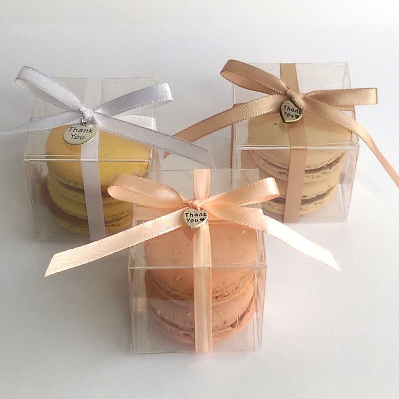 Macaron Favor Boxes Wedding Favor Boxes Macaron Favor Box Etsy