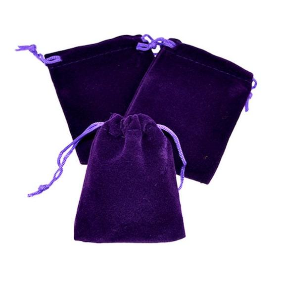 50pcs Pochette en velours noir Sac avec Cordon de Serrage douce faveur bijoux