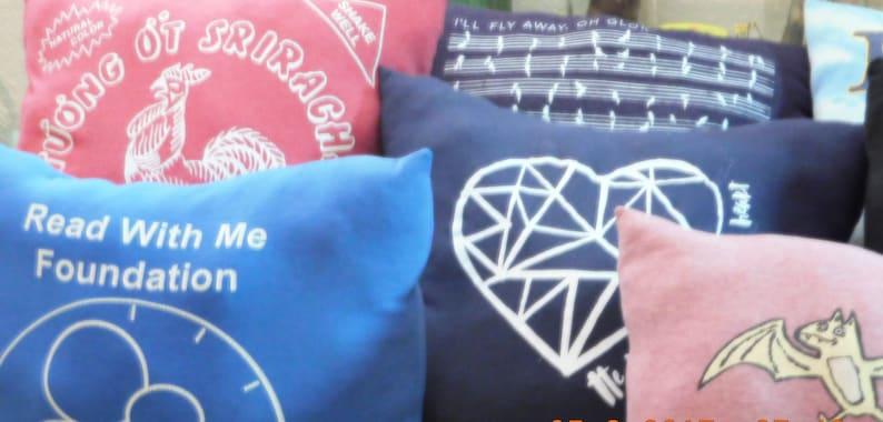 T-shirt Pillows Cushions t-Shirts Recycled T-shirts image 0
