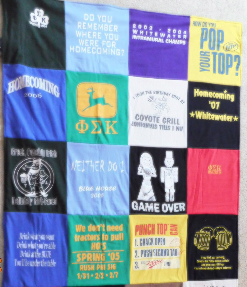 T-Shirt Blankets  Throw T-Shirts Specialty Upcycle Adult image 0