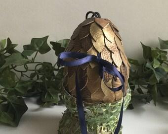 """4"""" dragon egg that opens, golden egg, Easter egg,"""