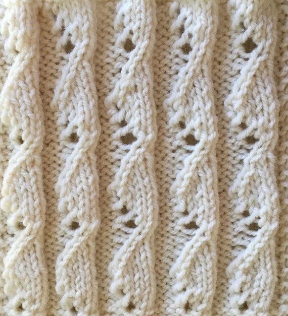 Knit Blanket Pattern Rib It Sampler Throw Part 4 Etsy