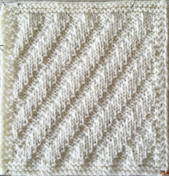 Knit Blanket Pattern Rib It Sampler Throw Part 1 Pdf Etsy