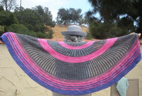 Circle Dance Shawl Simple Lace Knit Pattern Etsy