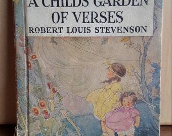 A Childs Garden Of Verses Robert Louis Stevenson 1937 edition Vintage Childrens Book