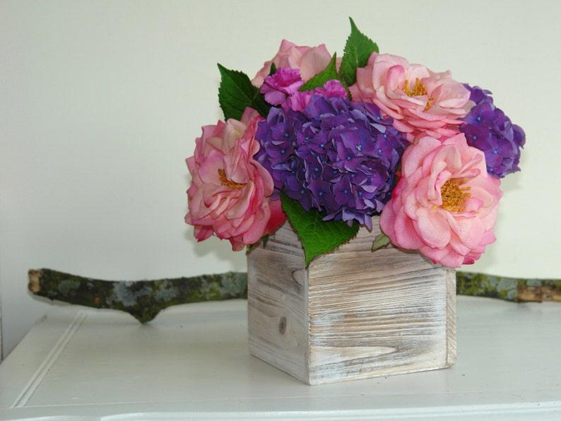 Wood Box Wooden Box Planter Flower Box Vase Wedding Decor Etsy