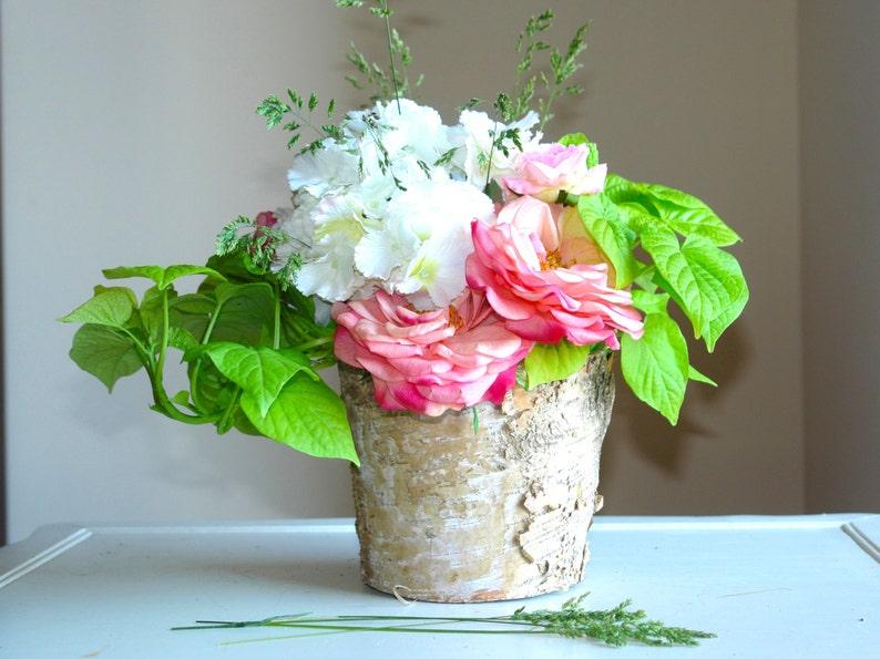 image 0 ... & Birch bark vases birchwood wood boxes wedding flower pot   Etsy