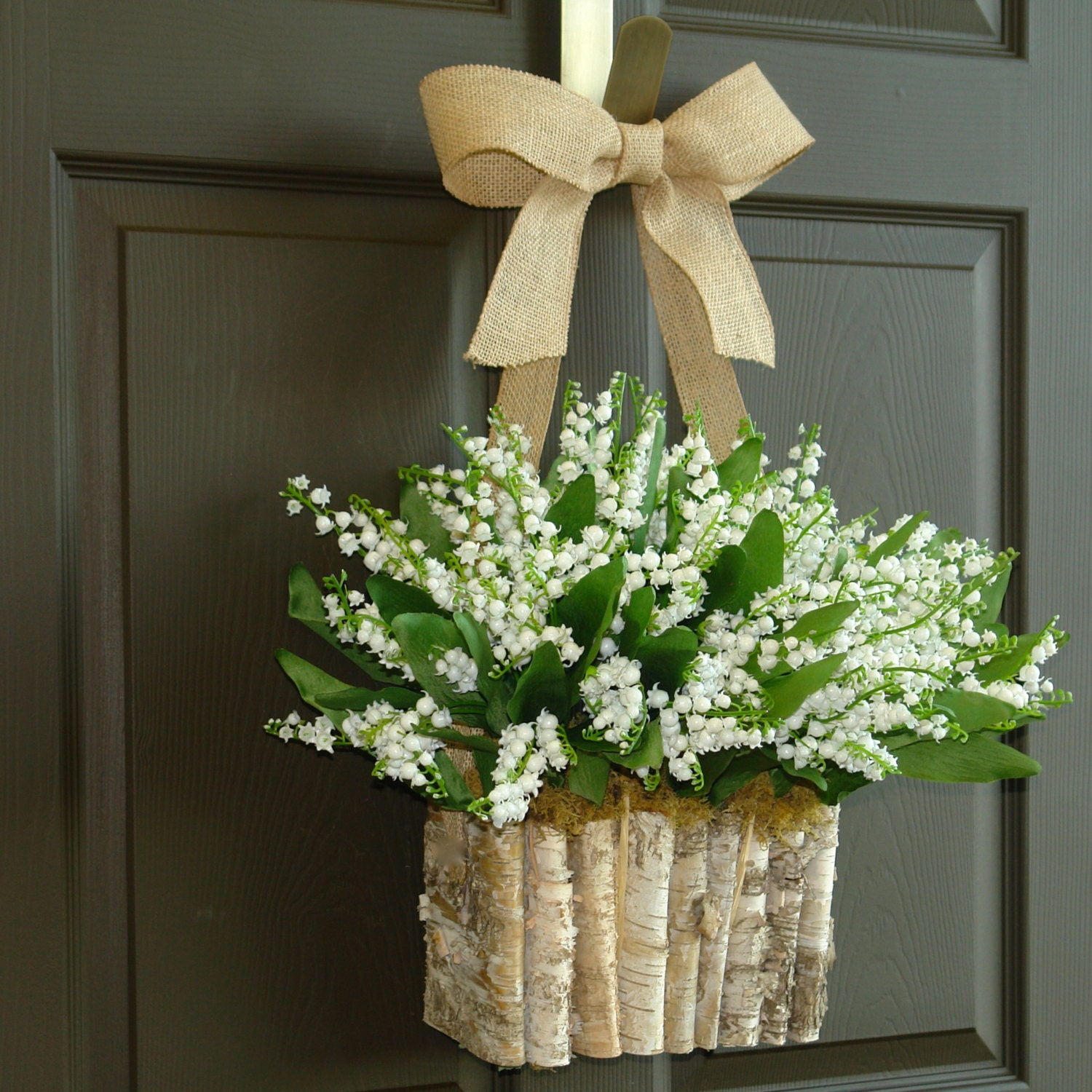 Spring Wreath Lily Of The Valley Wreath Front Door Wreaths Etsy