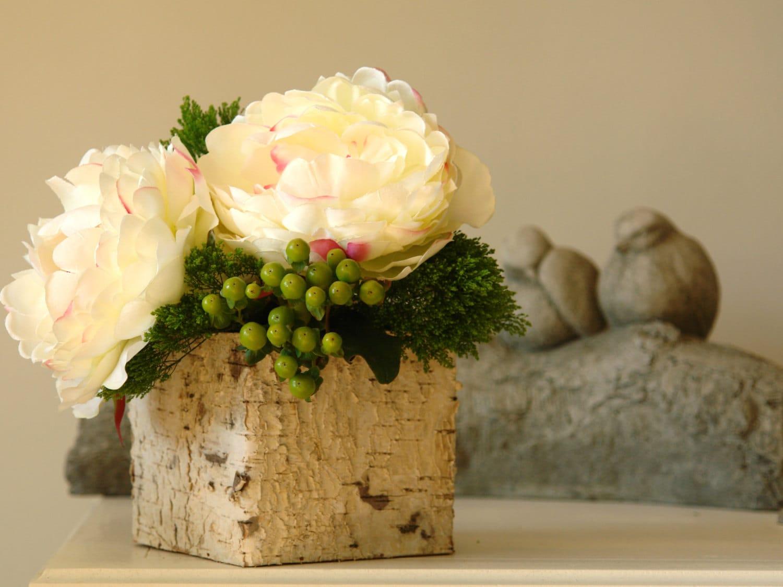 Etsy & birch bark wood vases square wedding flower pot planter centerpieces wood boxes woodworkrustic chic wedding