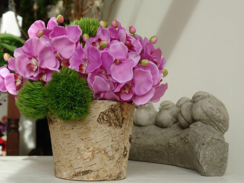 & Birch bark vases with zinc liner wedding flower pot rustic   Etsy