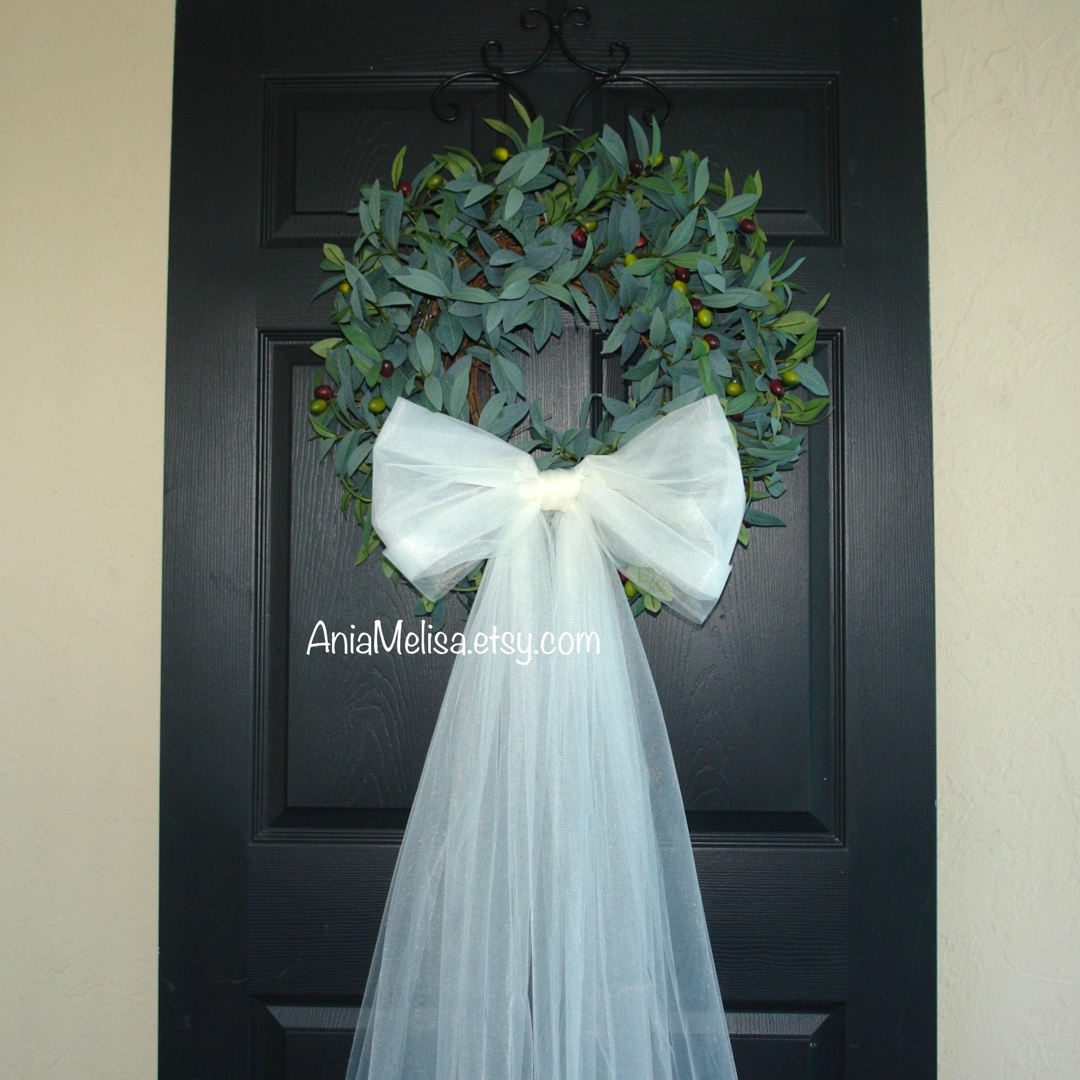 Spring Wreaths For Front Door Wreaths Wedding Bridal Shower Etsy