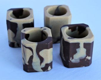 Set of 4 Peanut Butter & Chocolate Shot Glasses or Treat Cups