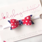 4th of July Baby Girl Headband - Star Headband - 4th of July Headband - 4th of July Toddler Bow - Red White Blue Baby Headband